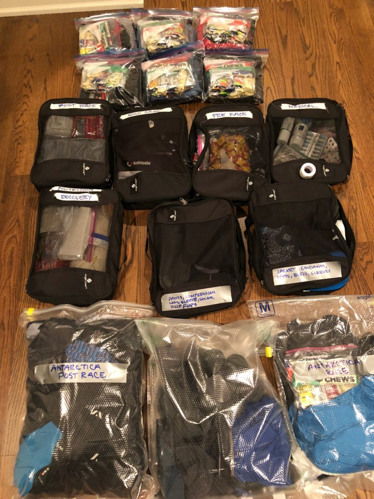 Packing for the World Marathon Challenge